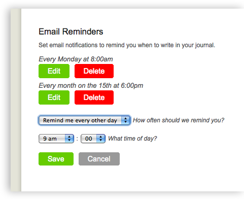 Email Reminders