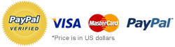 We accept: Visa, MasterCard, and PayPal